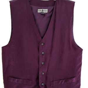 Robert Stock Purple Silk Vest